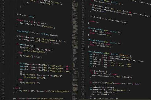 Code einer Webseiten-Programmierung
